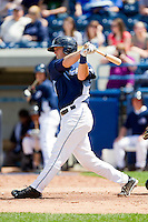 Bennett Pickar (25) of the West Michigan Whitecaps follows through on his swing against the Quad Cities River Bandits at Fifth Third Ballpark on May 5, 2013 in Comstock Park, Michigan.  The River Bandits defeated the Whitecaps 5-4.  (Brian Westerholt/Four Seam Images)