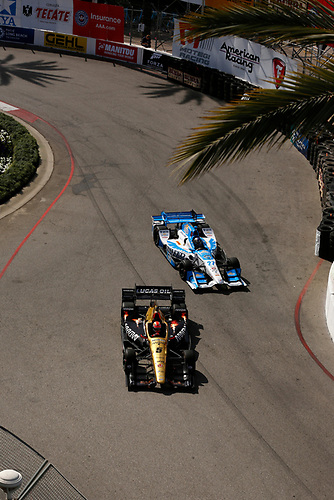 15-17 April, 2016, Long Beach, California USA<br /> James Hinchcliffe and Marco Andretti<br /> ©2016, Phillip Abbott<br /> LAT Photo USA