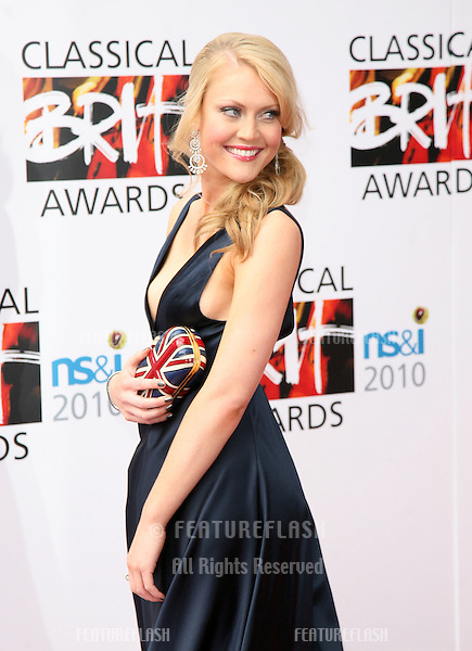 Camilla Kerslake arriving for the Classical Brit Awards, at the Royal Albert Hall, London. 13/10/2010  Picture by: Alexandra Glen / Featureflash