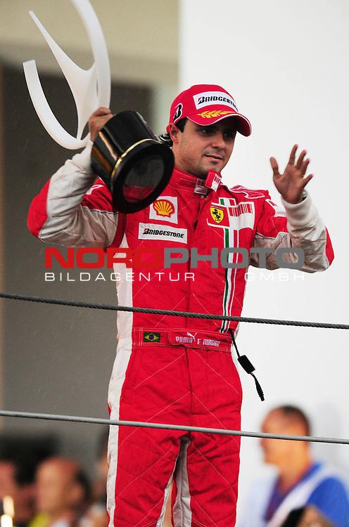 Podium - Felipe Massa (BRA), Scuderia Ferrari