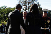U.S. President Barack Obama and first Lady Michelle Obama welcome Pope Francis in an arrival ceremony at the White House on September 23, 2015 in Washington, DC. The Pope begins his first trip to the United States at the White House followed by a visit to St. Matthew's Cathedral, and will then hold a Mass on the grounds of the Basilica of the National Shrine of the Immaculate Conception.<br /> Credit: Alex Wong / Pool via CNP