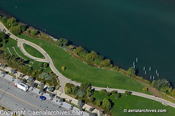 Aerial photograph Mission Bay Mission Creek park San Francisco California