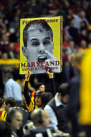 Terrapins fans taunts Jon Scheyer of the Blue Devils. Maryland defeated Duke 79-72 at the Comcast Center in College Park, MD on Wednesday, March 3, 2010. Alan P. Santos/DC Sports Box