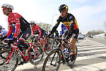 The peloton including Philippe Gilbert (BEL) Quick-Step Floors pass through Mater during the 60th edition of the Record Bank E3 Harelbeke 2017, Flanders, Belgium. 24th March 2017.<br /> Picture: Eoin Clarke | Cyclefile<br /> <br /> <br /> All photos usage must carry mandatory copyright credit (&copy; Cyclefile | Eoin Clarke)