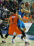 Montakit Fuenlabrada's Ivan Paunic (l) and Alba Berlin's Bogdan Radosavljevic during Eurocup, Regular Season, Round 6 match. November 16, 2016. (ALTERPHOTOS/Acero)