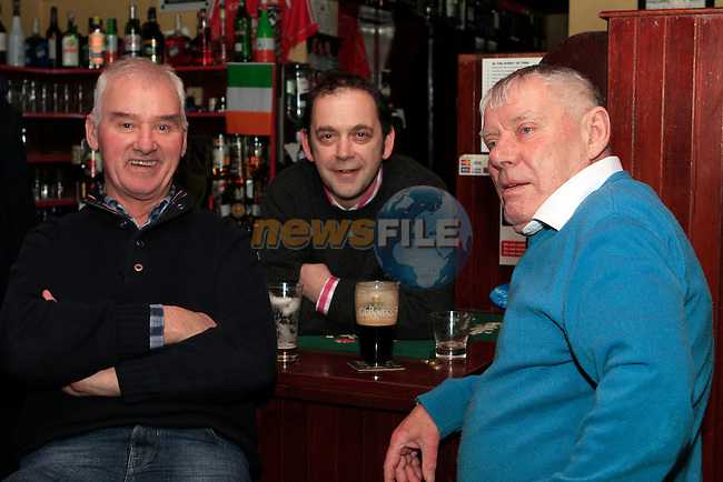 Johnnie Jein, TP McHugh and Chalkie White in McHughs...Photo NEWSFILE/Jenny Matthews..(Photo credit should read Jenny Matthews/NEWSFILE)