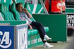 27.06.2020, wohninvest , nphgm001, WESERSTADION, Bremen, Ligaspiel, 1. Bundesliga, SV Werder Bremen vs 1. FC Koeln, im Bild Horst Heldt (Sportchef, Koeln) telefoniert<br /> Foto: Joachim Sielski/Sielski-Press/Pool/gumzmedia/nordphoto<br /><br />DFL regulations prohibit any use of photographs as image sequences and/or quasi-video.<br />EDITORIAL USE ONLY<br />National and international News-Agencies OUT.