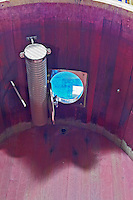 fermentation tank interior perforated column to pump must Bodegas Margon , DO Tierra de Leon , Pajares de los Oteros spain castile and leon