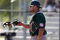 Chicago State Cougars Tony Sanchez #35 during a game vs Long Island at Lake Myrtle Main Field in Auburndale, Florida;  March 16, 2011.  Long Island defeated Chicago State 9-8.  Photo By Mike Janes/Four Seam Images
