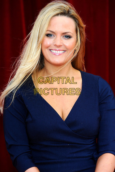 JO JOYNER .Arrivals at the British Soap Awards at Granada Television Studios, Manchester, England..May 14th, 2011.half length dress wrap blue cleavage .CAP/CJ.©Chris Joseph/Capital Pictures.