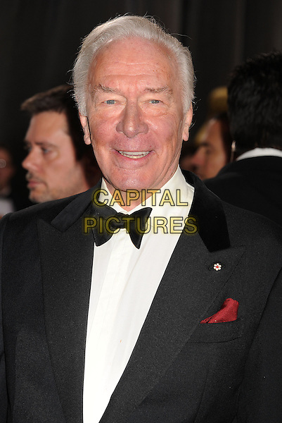 Christopher Plummer.85th Annual Academy Awards held at the Dolby Theatre at Hollywood & Highland Center, Hollywood, California, USA..February 24th, 2013.oscars headshot portrait black white tuxedo   .CAP/ROT/TM.©Tony Michaels/Roth Stock/Capital Pictures