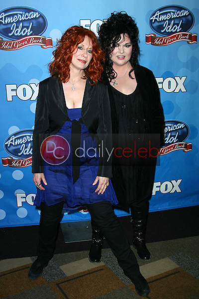 Nancy Wilson and Ann Wilson of Heart<br />at the taping of American Idol's &quot;Idol Gives Back 2008&quot;. Kodak Theatre, Hollywood, CA. 04-06-08<br />Dave Edwards/DailyCeleb.com 818-249-4998
