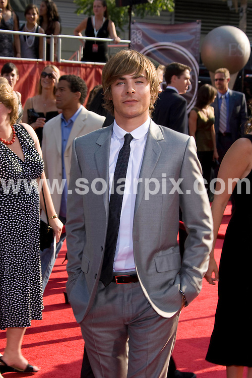 **ALL ROUND PICTURES FROM SOLARPIX.COM**.**SYNDICATION RIGHTS FOR UK, SPAIN, PORTUGAL, AUSTRALIA, S.AFRICA & DUBAI (U.A.E) ONLY**.David Beckham and Victoria Beckham attends the 16th Annual ESPY at the Nokia Theatre in Los Angeles, California in the USA. .This pic:Zac Efron..JOB REF:6850- PHZ/Chris Hatcher    DATE:16_07_08 .**MUST CREDIT SOLARPIX.COM OR DOUBLE FEE WILL BE CHARGED* *UNDER NO CIRCUMSTANCES IS THIS IMAGE TO BE REPRODUCED FOR ANY ONLINE EDITION WITHOUT PRIOR PERMISSION*