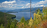 Idaho, North, Bonner County. Summertime view over the South end of Priest Lake in the Idaho Selkirk Mountains.
