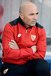 Sevilla's coach Jorge Sampaoli during La Liga match between Atletico de Madrid and Sevilla CF at Vicente Calderon Stadium in Madrid, Spain. March 19, 2017. (ALTERPHOTOS/BorjaB.Hojas)