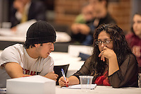 The Hispanic Scholarship Fund held its College 101 program, an informative symposium for the Minneapolis area Hispanic community Friday, Sept. 28 at the University of Minnesota's TCF Bank Stadium in the DQ Room. The presentations in English and Spanish focused on helping aspiring college age students and their families with the challenges, benefits, and helpful strategies of the college entrance process, college life, and more in a broad overview.
