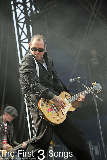 Mike Ness of Social Distortion performs during Day 2 of the Voodoo Experience at City Park in New Orleans, Louisiana on October 29, 2011.