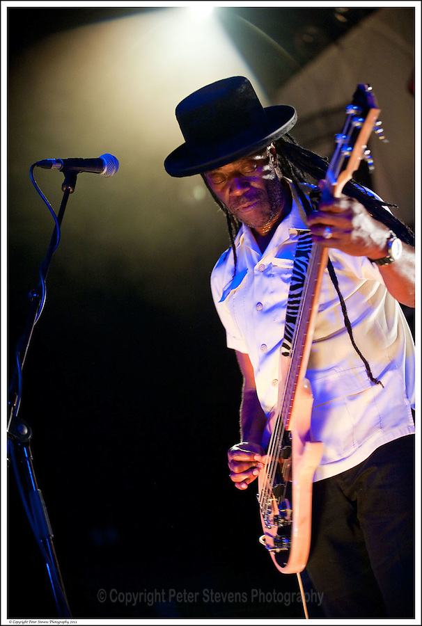 Leo 'E-Zee Kill' Williams -<br /> <br /> Big Audio Dynamite perform at the Shepherds Bush Empire on the 2nd April 2011