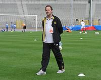 Belgium U19 - Ukraine U19 : <br /> <br /> Belgium U19 : coach Kris Van Der Haegen<br /> <br /> foto Dirk Vuylsteke / Nikonpro.be
