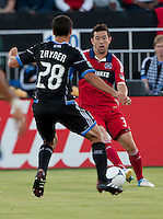 Santa Clara, California - Saturday July 28, 2012: Chicago Fire vs San Jose Earthquakes at Buck Shaw Stadium, Stanford, Ca    San Jose Earthquakes and Chicago Fire tied 1 - 1