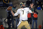 November 12, 2016 - Colorado Springs, Colorado, U.S. -  Colorado State quarterback, Nick Stevens #7, attempts a pass during the NCAA Football game between the Colorado State University Rams and the Air Force Academy Falcons, Falcon Stadium, U.S. Air Force Academy, Colorado Springs, Colorado.  Air Force defeats Colorado State 49-46.