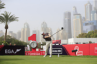 Richard McEvoy (ENG) on the 1st tee during Round 1 of the Omega Dubai Desert Classic, Emirates Golf Club, Dubai,  United Arab Emirates. 24/01/2019<br /> Picture: Golffile | Thos Caffrey<br /> <br /> <br /> All photo usage must carry mandatory copyright credit (&copy; Golffile | Thos Caffrey)