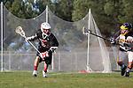 Palos Verdes, CA 03/30/10 - Sage Abraham (Palos Verdes #33) in action during the Palos Verdes-Peninsula JV Boys Lacrosse game.