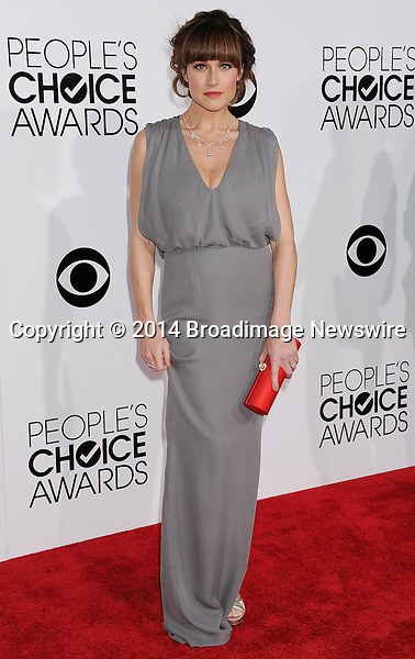 Pictured: Nikki DeLoach<br /> Mandatory Credit &copy; Gilbert Flores /Broadimage<br /> 2014 People's Choice Awards <br /> <br /> 1/8/14, Los Angeles, California, United States of America<br /> Reference: 010814_GFLA_BDG_294<br /> <br /> Broadimage Newswire<br /> Los Angeles 1+  (310) 301-1027<br /> New York      1+  (646) 827-9134<br /> sales@broadimage.com<br /> http://www.broadimage.com