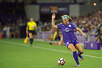 Orlando, FL - Tuesday August 08, 2017: Danica Evans during a regular season National Women's Soccer League (NWSL) match between the Orlando Pride and the Chicago Red Stars at Orlando City Stadium.