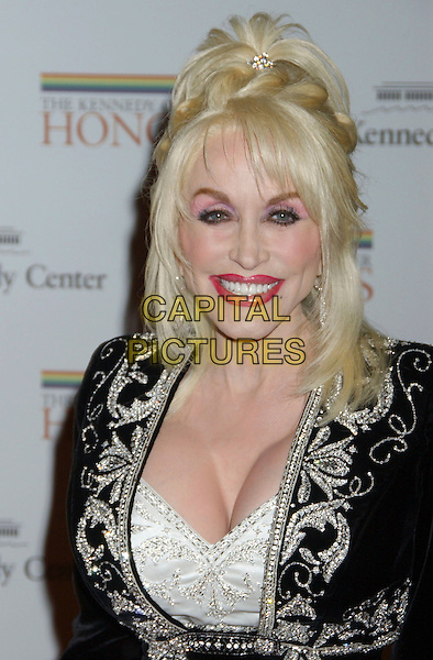 DOLLY PARTON .Kennedy Center Honors 2006 State Department Dinner,  held at the State Department, Washington, D.C. USA,.02 December 2006..portrait headshot make-up.CAP/ADM/LF.©Laura Farr/AdMedia/Capital Pictures.