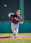 21 March 2015: Atlanta Braves pitcher Brandon Cunniff on the mound during a Split Squad Spring Training game against the Washington Nationals at Champion Stadium at the ESPN Wide World of Sports Complex in Kissimmee, Florida. The Braves defeated the Nationals 5-2 in Grapefruit League play. Mandatory Credit: Ed Wolfstein Photo *** RAW (NEF) Image File Available ***