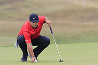 Patrick Reed (USA) on the 12th green during Saturday's Round 3 of the Porsche European Open 2018 held at Green Eagle Golf Courses, Hamburg Germany. 28th July 2018.<br /> Picture: Eoin Clarke | Golffile<br /> <br /> <br /> All photos usage must carry mandatory copyright credit (&copy; Golffile | Eoin Clarke)