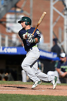 Vermont Lake Monsters designated hitter Joe Bennie (3) at bat during a game against the Jamestown Jammers on July 13, 2014 at Russell Diethrick Park in Jamestown, New York.  Jamestown defeated Vermont 6-2.  (Mike Janes/Four Seam Images)