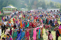 UTTARAKHAND: Villagers in the Kumaon Himalayas dance at the Nanda Devi Festival. Photo by Michael Benanav.