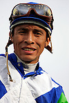 Jockey Edgar Prado aboard Barbaro celebrates the win immediately following the 132nd running of the Kentucky Derby at Churchill Downs in Louisville, Kentucky on May 6, 2006..