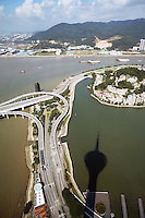 Roadways and bridges near to the Pearl River delta.<br />