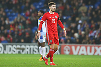 Tom Bradshaw of Wales during the International Friendly match between Wales and Panama at The Cardiff City Stadium, Wales, UK. Tuesday 14 November 2017