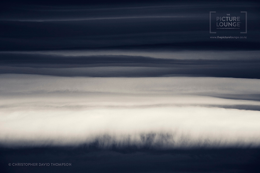 A beautiful duotone of cloud textures, from one of the best parts of New Zealand, Central Otago, photographed by Wanaka-based landscape photographer Christopher David Thompson.