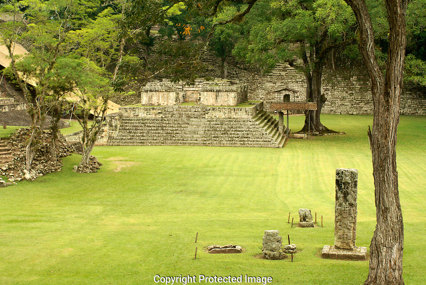 The Mayan ruins of Copan, Honduras. Copan is a UNESCO World Heritage Site.