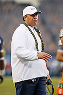 Philadelphia, PA - December 12, 2015:     Navy Midshipmen head coach Ken Niumatalolo during the 116th game between Army vs Navy at Lincoln Financial Field in Philadelphia, PA. (Photo by Elliott Brown/Media Images International)