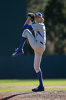 Kentucky Wildcats starting pitcher Sean Hjelle (30) in action against the North Carolina Tar Heels at Boshmer Stadium on February 17, 2017 in Chapel Hill, North Carolina.  The Tar Heels defeated the Wildcats 3-1.  (Brian Westerholt/Four Seam Images)