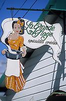 Europe/France/DOM/Antilles/Petites Antilles/Guadeloupe/Env de Sainte-Anne : Enseigne d'un restaurant