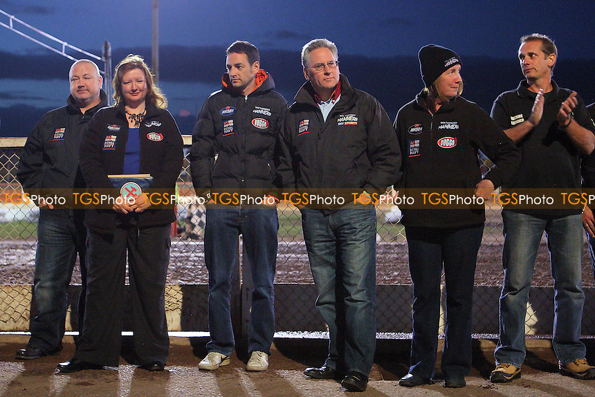 Lakeside Hammers vs Peterborough Panthers - Sky Sports Elite League Speedway at Arena Essex Raceway, Purfleet - 14/09/12 - MANDATORY CREDIT: Gavin Ellis/TGSPHOTO - Self billing applies where appropriate - 0845 094 6026 - contact@tgsphoto.co.uk - NO UNPAID USE.