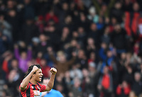 2nd November 2019; Vitality Stadium, Bournemouth, Dorset, England; English Premier League Football, Bournemouth Athletic versus Manchester United; Nathan Ake of Bournemouth acknowledges the fans after the final whistle - Strictly Editorial Use Only. No use with unauthorized audio, video, data, fixture lists, club/league logos or 'live' services. Online in-match use limited to 120 images, no video emulation. No use in betting, games or single club/league/player publications
