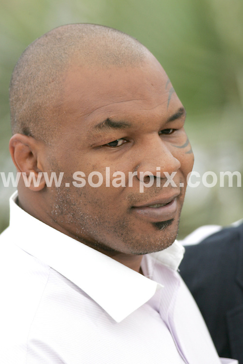 **ALL ROUND PICTURES FROM SOLARPIX.COM**.**WORLDWIDE SYNDICATION RIGHTS**.Mike Tyson photocall at the Cannes film festival in Cannes France..JOB REF:6435-MSR    DATE:17_05_08 .**MUST CREDIT SOLARPIX.COM OR DOUBLE FEE WILL BE CHARGED* *UNDER NO CIRCUMSTANCES IS THIS IMAGE TO BE REPRODUCED FOR ANY ONLINE EDITION WITHOUT PRIOR PERMISSION*