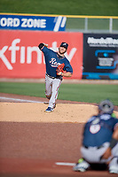 Reno Aces starting pitcher Bradin Hagens (47) throws before the game against the Salt Lake Bees at Smith's Ballpark on June 27, 2019 in Salt Lake City, Utah. The Aces defeated the Bees 10-6. (Stephen Smith/Four Seam Images)