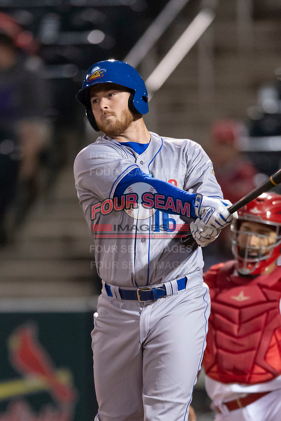 Amarillo Sod Poodles pinch hitter TJ Weir (16) during a Texas League game against the Springfield Cardinals on April 25, 2019 at Hammons Field in Springfield, Missouri. Springfield defeated Amarillo 8-0. (Zachary Lucy/Four Seam Images)