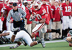 Wisconsin Badgers running back James White (20) carries the ball during an NCAA college football game against the Northwestern Wildcats on November 27, 2010 at Camp Randall Stadium in Madison, Wisconsin. The Badgers won 70-23. (Photo by David Stluka)