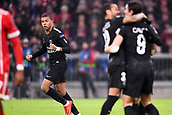 December 5th 2017, Allianze Arena, Munich, Germany. UEFA Champions league football, Bayern Munich versus Paris St Germain;  29 KYLIAN MBAPPE (psg) celebrate PSG's goal in the 50th minute