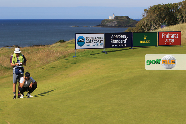 Erik Van Rooyan (RSA) on the 5th during Round 2 of the Aberdeen Standard Investments Scottish Open 2019 at The Renaissance Club, North Berwick, Scotland on Friday 12th July 2019.<br /> Picture:  Thos Caffrey / Golffile<br /> <br /> All photos usage must carry mandatory copyright credit (© Golffile | Thos Caffrey)